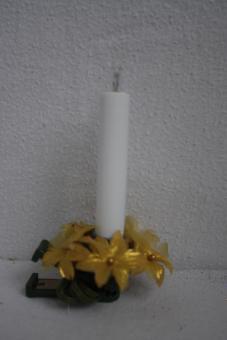 Kerzenring Blüten gold