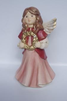 """Engel """"Weihnachsgrüße"""" bordeaux"""